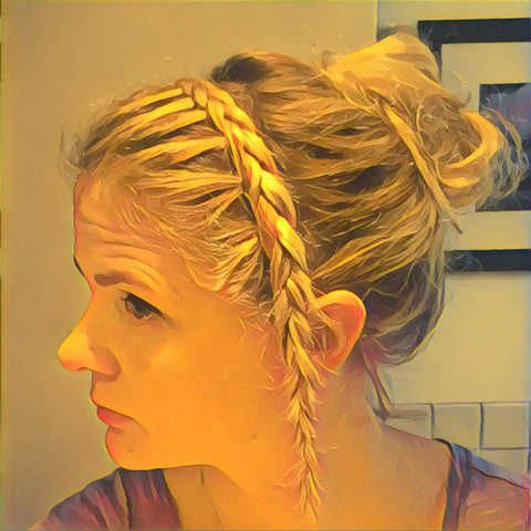 SunCare for Your Hair: SunQuist Braided Headband Step 12