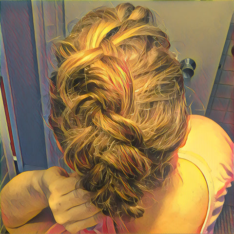 SunCare for Your Hair: SunQuist Faux-Hawk Dutch Braid Step 11