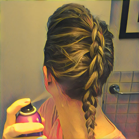 SunCare for Your Hair: SunQuist Faux-Hawk Dutch Braid Step 9a