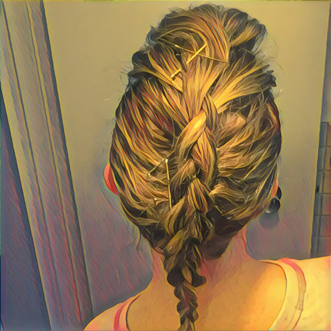 SunCare for Your Hair: SunQuist Faux-Hawk Dutch Braid Step 7