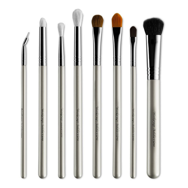 Arctic White Pro Eye Brush Set - Makeup Addiction Cosmetics - District Glow