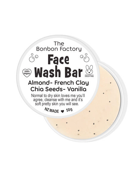 Almond & Vanilla Clay Facial Bar