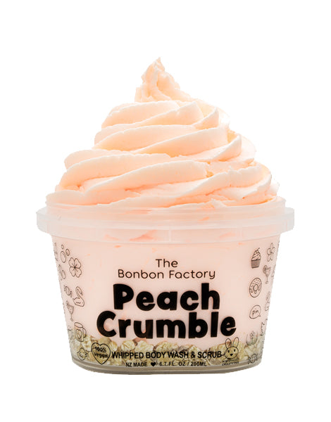 Body Wash Whip & Scrub - Peach Crumble