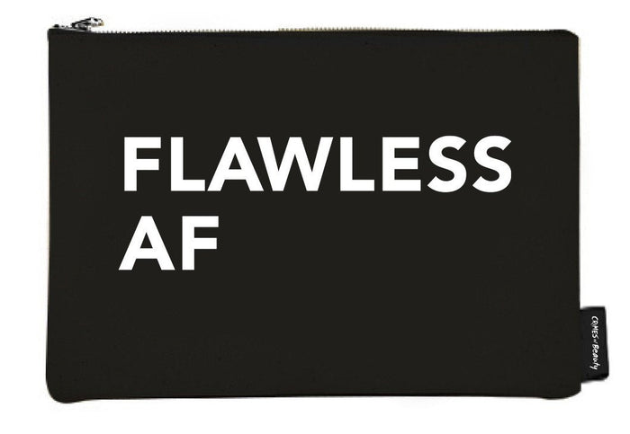 Flawless AF Canvas Makeup Bag