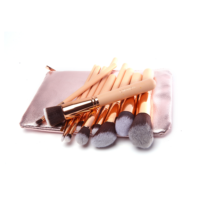 12 PIECE BALLERINA ROYAL GOLD BRUSH SET