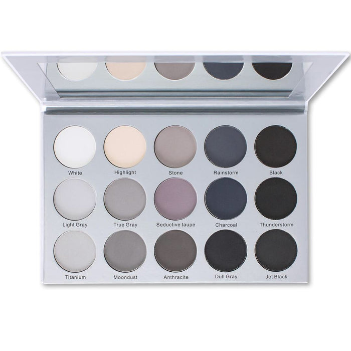 ES24 - Kara 15 Colour Smokey Grey Eyeshadow Palette