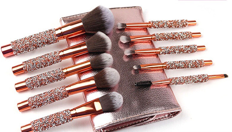 Bronzed Vegan Brush Set