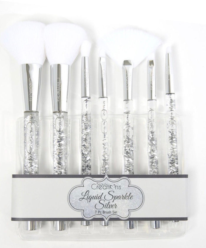 Liquid Silver Sparkle Brush Set