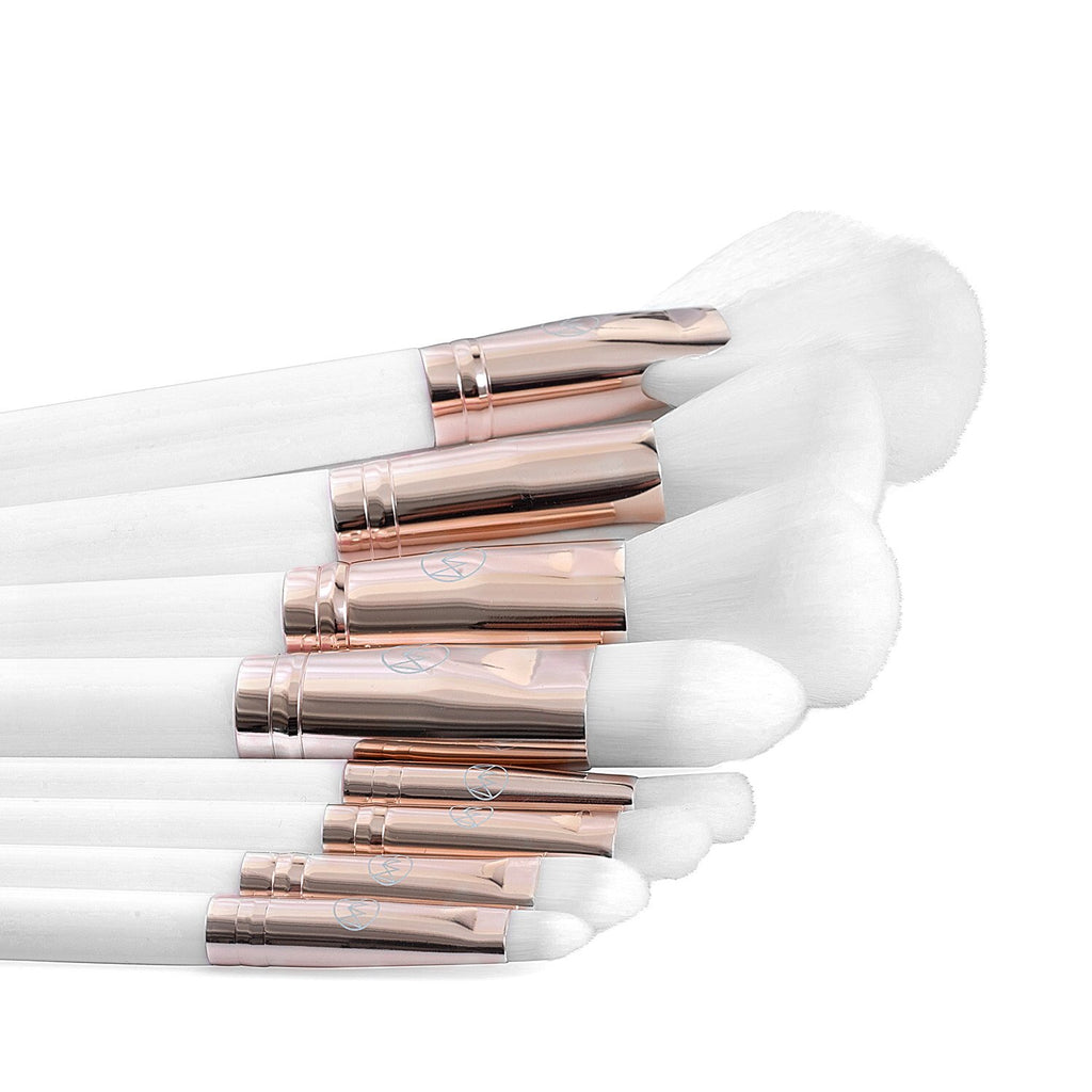 White Brush Set and Luxury Bag