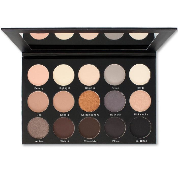 ES23 - Kara 15 Colour Smokey Sand Eyeshadow Palette