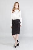 Zipper Pencil Skirt - stylebookcloset