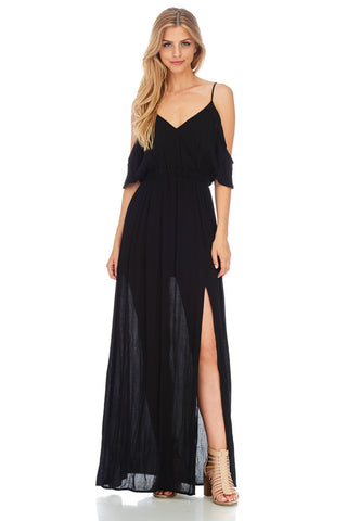 Off The Shoulder Maxi Dress - stylebookcloset
