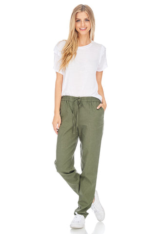 Relaxed Drawstring Pants - stylebookcloset
