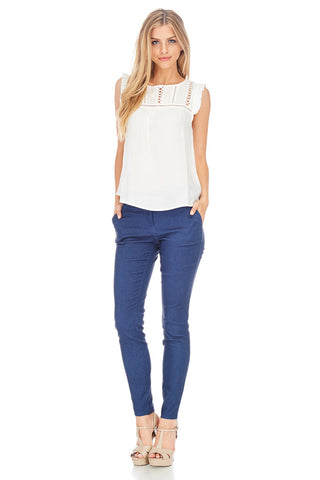 Campbell Stretch Trouser - stylebookcloset