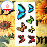 Amazing Assortment of 3D Butterfly Temporary Tattoo - Waterproof