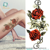 High Resolution Body Art Temporary Rose Tattoo