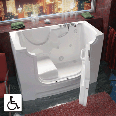 Meditub Wheelchair Access Bathtub 3060WCA Series