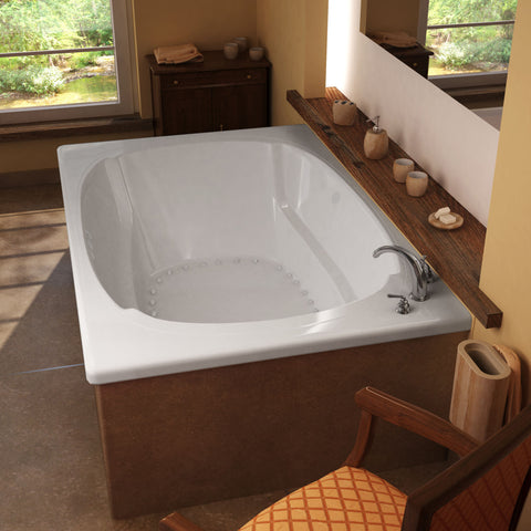 Venzi Charleston 72x48 Drop-in Rectangular Air Bathtub, Center Drain (4872CAL/R)