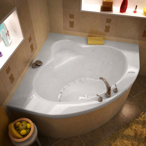 Atlantis Alexandria 60x60 2 Person Drop In Corner Oval Acrylic Air Bathtub,  ...