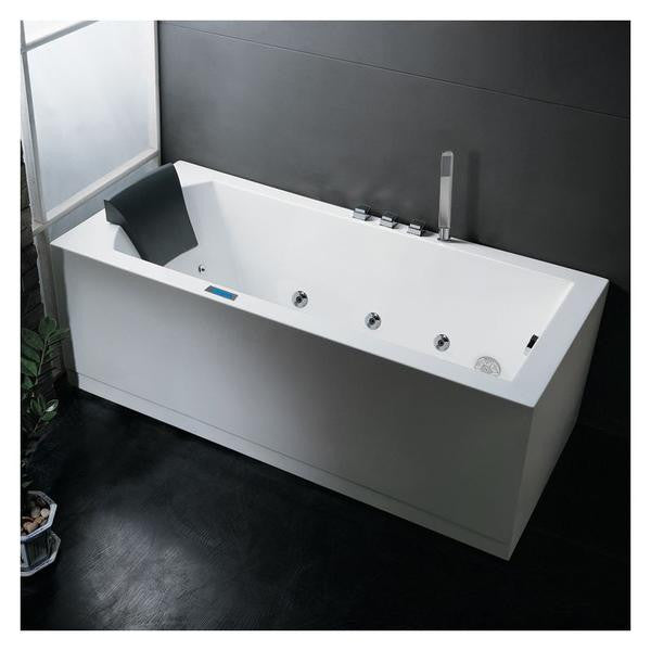 ARIEL Platinum 6ft AM154JDTSZ-70 Rectangular Alcove White Acrylic ...