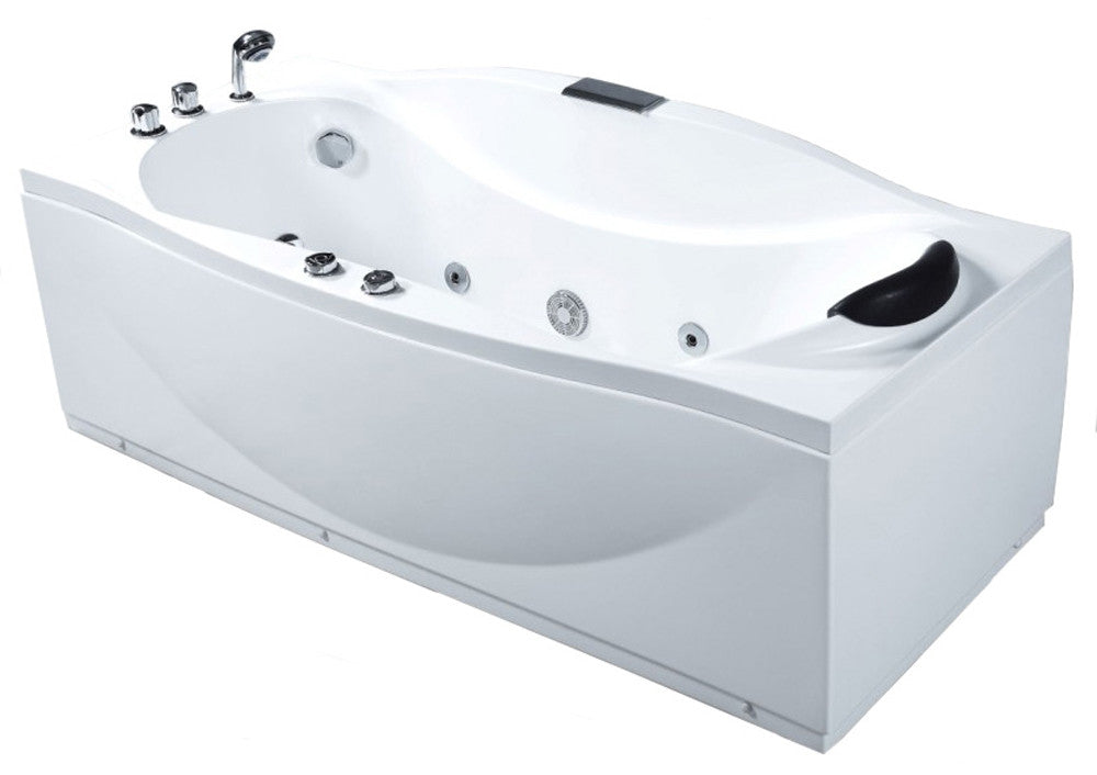 EAGO 6\' White Whirlpool Jetted Bathtub – The Modern Spa