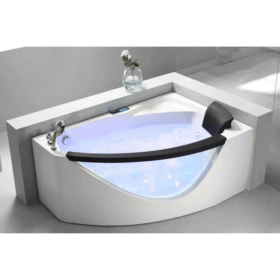 EAGO 5ft AM198 White Acrylic Corner Whirlpool Bathtub – The Modern Spa