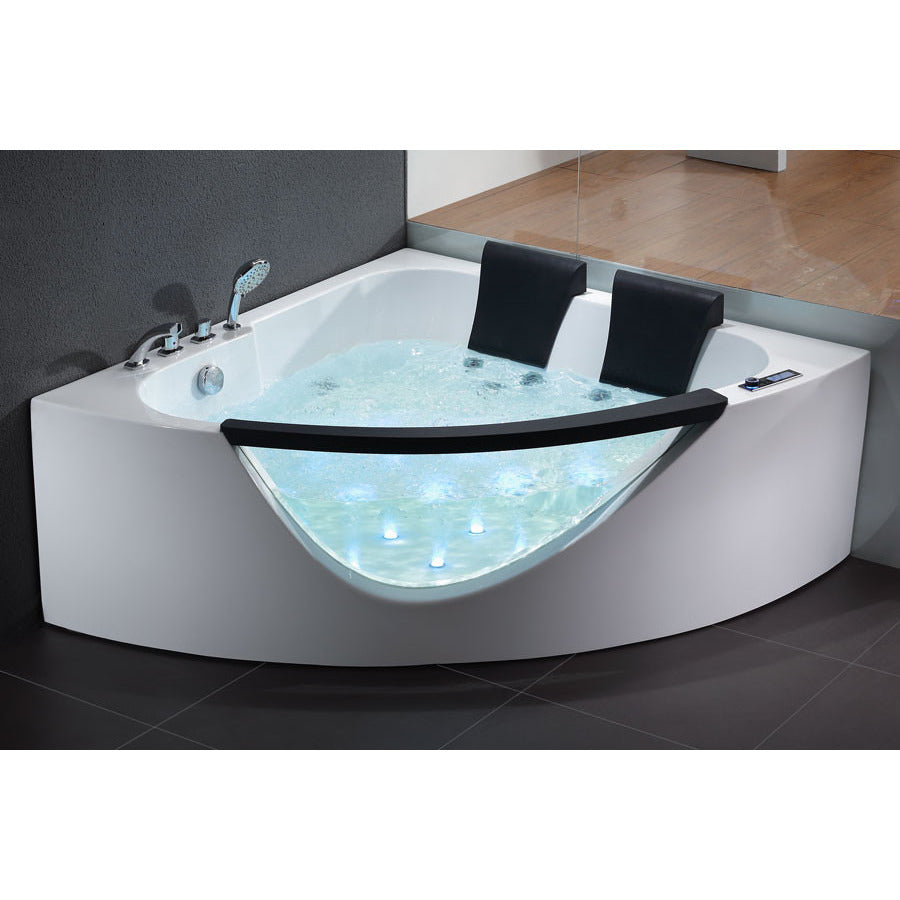 EAGO 5ft 2-person Clear Acrylic Corner Whirlpool Tub – The Modern Spa