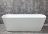 "Image of ALFI AB 9952 67"" White Rectangular Solid Surface Smooth Resin Soaking Tub"
