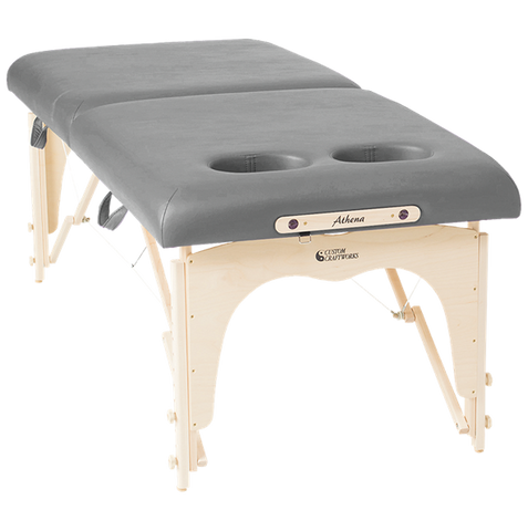 "Custom Craftworks Athena 30"" w/Breast Recesses Stainless Steel Portable Massage Table"