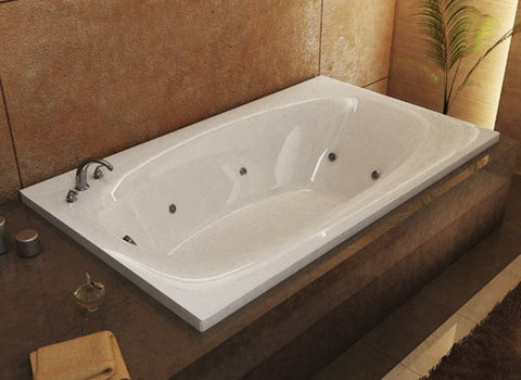 "Atlantis Atlantis Polaris 66"" x 36"" Rectangular White Acrylic Air & Whirlpool Combo Bathtub, Left Drain (3666PDL) Modern Spa Tubs"
