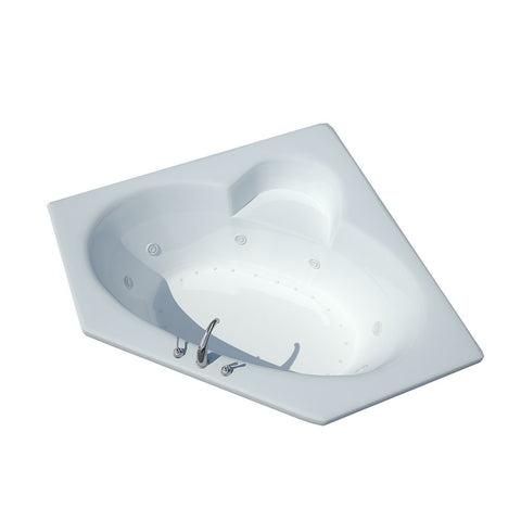 Atlantis Atlantis Sublime 58x58 Drop-in Corner Oval Acrylic Air & Whirlpool Combo Bathtub, Center Drain (6060SDL/R) Modern Spa Tubs