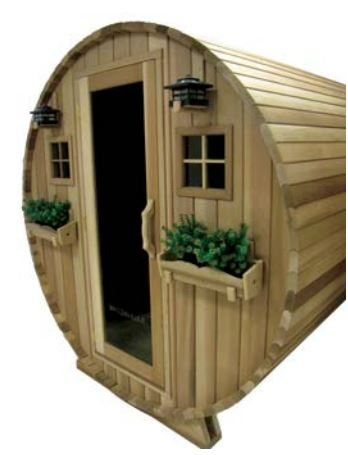 Outdoor Barrel Country Living Style Sauna by Saunacore