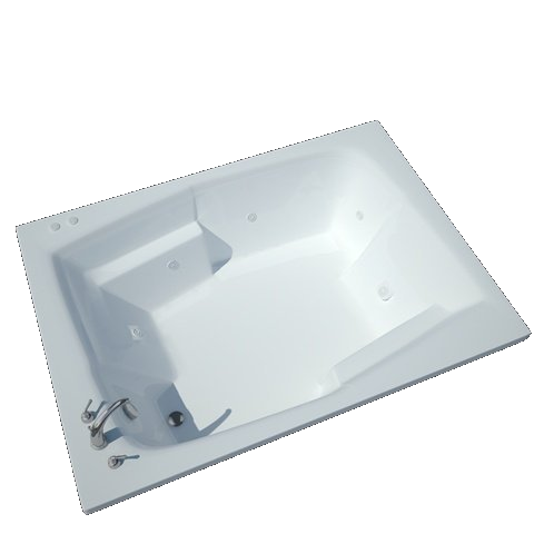Atlantis Caresse 5472 2-person Drop-in Rectangular Spa Bathtub