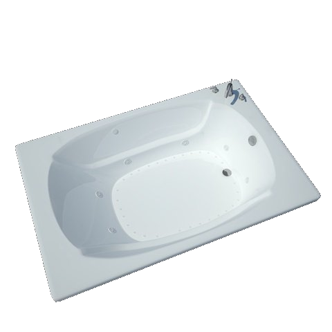 Atlantis Charleston 4872 Drop-in Rectangular Jetted Bathtub