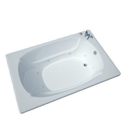 Atlantis Charleston 4878 Drop-in Rectangular Jetted Bathtub