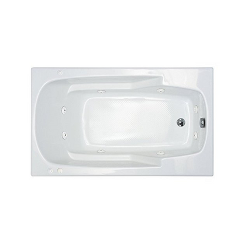 Atlantis Eros 3660 Rectangular White Jetted Spa Tub