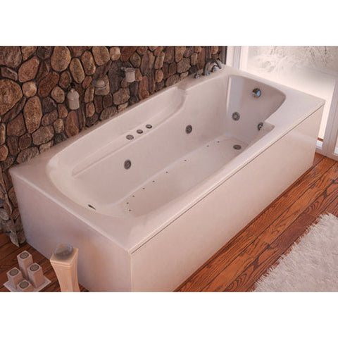 Atlantis Venzi Eros 3260EDL Rectangular White Acrylic Air & Whirlpool Combo Bathtub, Left Drain (3260EDL)