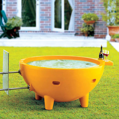 ALFI FireHotTub The Round Fire Burning Portable Outdoor Bath Tub