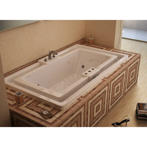 Atlantis Atlantis Infinity 78x46 Drop-in Rectangular Acrylic Air & Whirlpool Combo Bathtub, Center Drain (4678IDL/R) Modern Spa Tubs