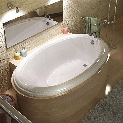 Atlantis Petite 3660 Oval White Acrylic Jetted Spa Bathtub