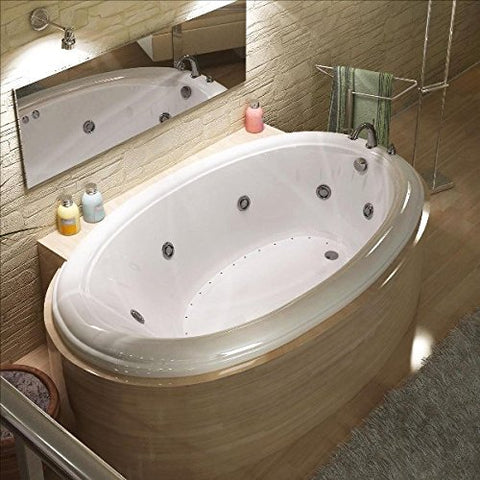 Atlantis Petite 4270 Oval White Acrylic Jetted Bathtub