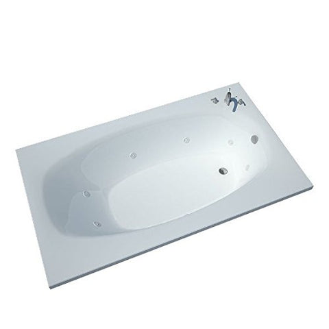 Atlantis Polaris 3672 Rectangular White Jetted Spa Bathtub