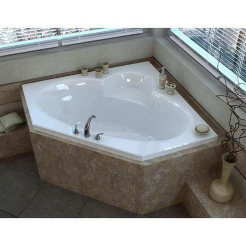 Atlantis Sublime 6060 Drop-in Corner Oval Jetted Bathtub