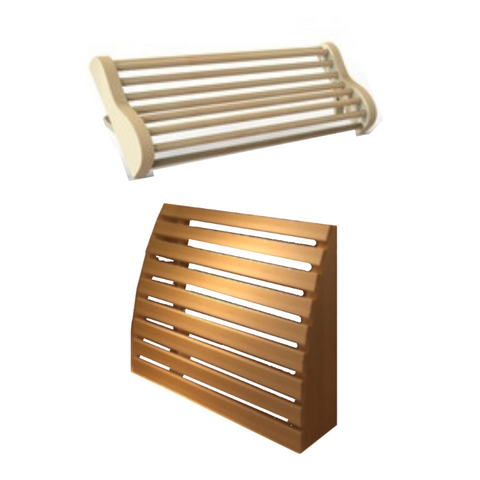 Ergonomic Lumbar Support and Neck Rest for JNH Saunas
