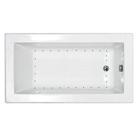 "Atlantis Venetian 60"" x 36"" Rectangular White Jetted Spa Bathtub"