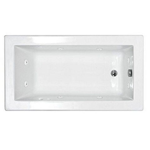 "Atlantis Venetian 60"" x 42"" Rectangular White Jetted Spa Bathtub"