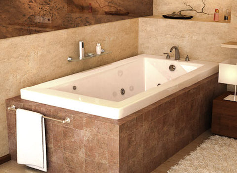 "Atlantis Atlantis Venetian 60"" x 30"" Rectangular White Acrylic Air & Whirlpool Combo Bathtub, Left Drain (3060VNDL) Modern Spa Tubs"