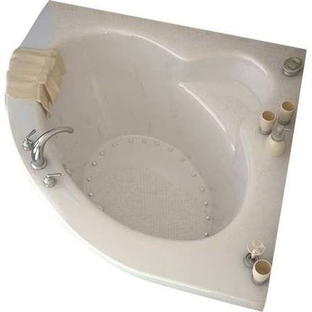 Atlantis Alexandria 60x60 2-person Drop-in Corner Oval Acrylic Air Bathtub, Center Drain (6060AAL/R)