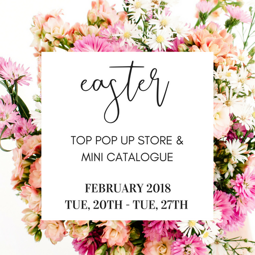 FEB Top Pop Up + Mini Catalogue 2018