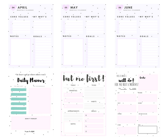 STYLISH PLANNER - Daily, Monthly & Quarterly Planner